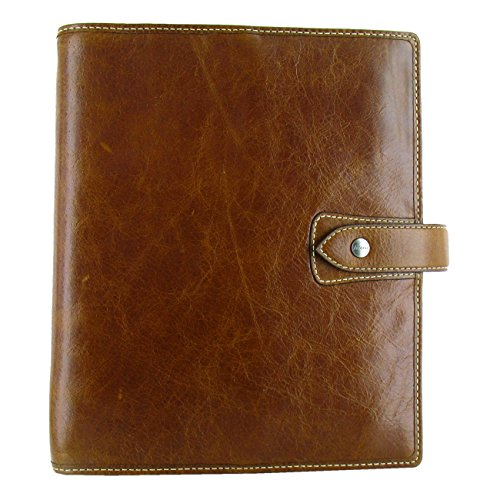 Filofax 2018 Malden Ochre Leather Organizer, A5 (8.25 x 5.75) Planner with to do and contacts refills, indexes and notepaper (C025847-18) by Filofax