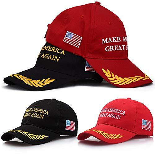 HATCHMATIC Machen Sie den Vereinigten Staaten einen Hut Wieder Donald Trump republikanische Flagge Schwarz Weizenohren Adjustable Cap 2018 Polo-Hut f/ür Pr/äsidenten Hat