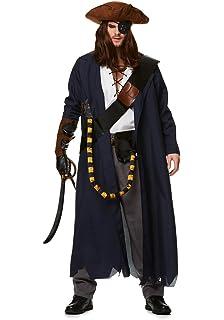 Disfraz de pirata para hombre de Piratas del Caribe: Amazon.es ...