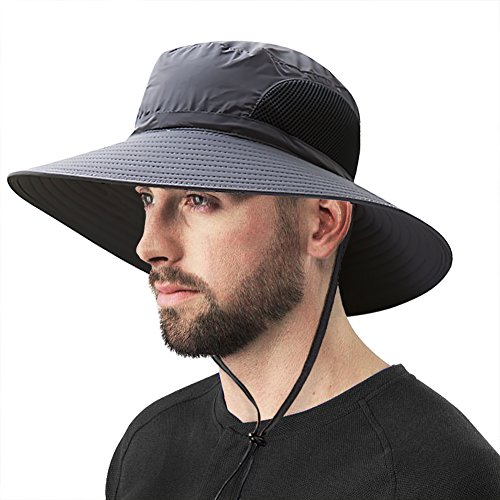 Ordenado Outdoor Waterproof Fishing Sun Boonie Hat Hiking Travel Safari Cap with Wide Brim