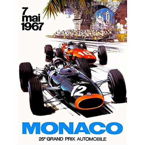 Wee Blue Coo Vintage Transport Monaco 25 Grand Prix Automobile 1967 Race Unframed Wall Art Print Poster Home Decor Premium