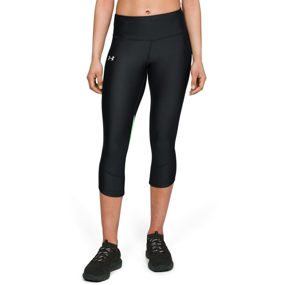 Under Armour Women's Armour Fly Fast Capri, Black (004)/Reflective, X-Small by Under Armour
