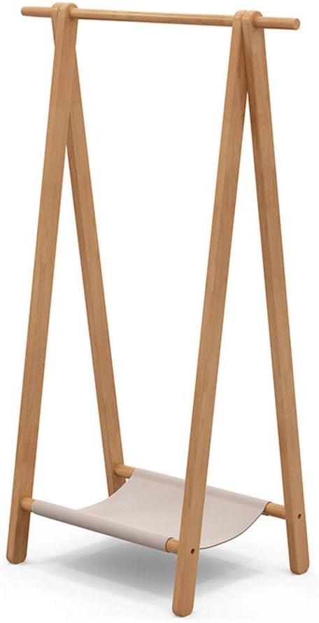 Lklmy 経済的なハンガー北欧のハンガーすべて純木コートラックフロアスタンドベッドルームシンプルモダン洋服棚 (Color : 1)