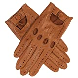 Lundorf Mary Women´s Italian Leather Driving Gloves With Button Closure - Tan - Large - 8