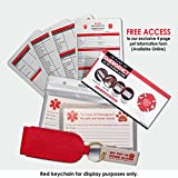 "OFTO ICE Kit - 4 Wallet-Sized In Case of Emergency Contact Cards, 2 ""My Pet is Home Alone"" Key Fobs, a Waterproof Pouch & Self-Sealing Laminated Pouch -Use as Personal, Family, Pet Care Cards USA MADE"