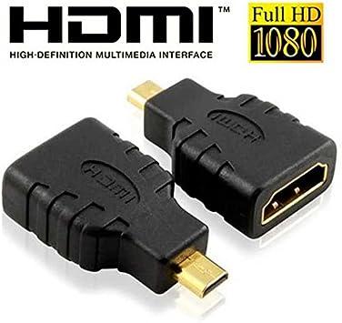 Adaptador Conector Micro HDMI Hembra a HDMI Macho