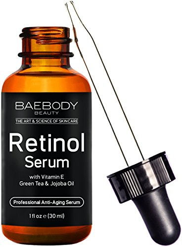 Baebody Retinol Serum for Face, Professional Anti-Aging Topical Facial Serum, Anti-Wrinkle & Reduce Fine Lines, Clinical Strength Organic Ingredients w Vitamin E, Hyaluronic Acid, Jojoba Oil (Maximum Replenish Night Cream)