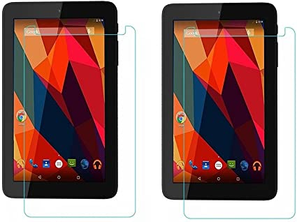 Colorcase  Pack of 2  Tempered Glass for Micromax Canvas Tab P290 Touch Screen Tablet Screen Protectors