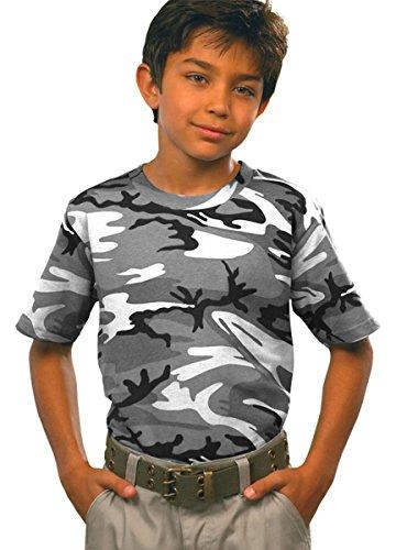 Urban Camouflage T-shirt - Code Five Youth Camouflage T-Shirt, Large, URBAN WOODLAND