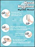 "Accuform Signs PST320 Safety Awareness Poster,""HAND HYGIENE/HIGENICO MANUAL"", 12"" Length x 9"" Width, Laminated Flexible Plastic"