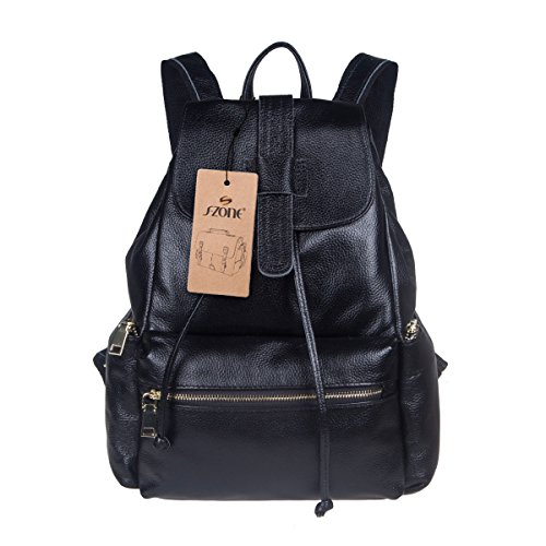 S ZONE Genuine Leather Backpack Fashion