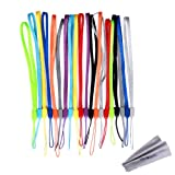Wisdompro 20 Pack 7-inch Short Colorful Wrist Lanyard Strap Bulk for USB Flash Thumb Drive, Key, Keychain, ID Badge Holder, Name tag - Assorted Colors