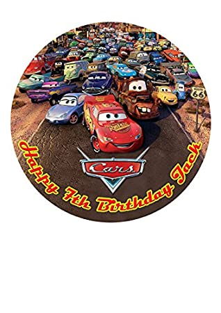 Tortenaufleger Disney Pixar Cars Geburtstag Tortenbild Fototorte und Text 19
