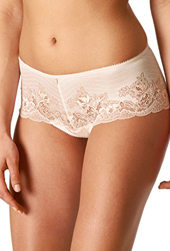 Boyshort Light Lace Colour Women's Women Shorties Taupe Mey 79646 Knicker Solid Leticia ypg41cq