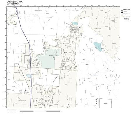 Amazon.com: ZIP Code Wall Map of Arlington, WA ZIP Code Map Not