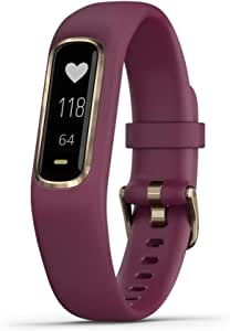 Garmin Vívosmart 4, Activity and Fitness Tracker w/Pulse Ox and Heart Rate Monitor, Gold W/Berry Band (010-01995-11), 0.75 inches