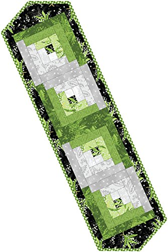 Greenery Log Cabin Table Runner Pod Quilt Kit Maywood Studio