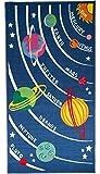 Flair Rugs - Tappeto per bambini 'Matrix', motivo a pianeti, dimensioni: 80 x 120 (ca.) 100cm x 190cm multicolore