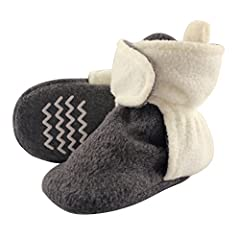 Hudson Baby Fleece Lined Scooties with Non Skid Bottom are a great way to keep your baby's little tootsies warm in the colder months! With hook and loop closure around the ankle, these Scooties cannot be kicked off! These are so warm, cozy an...