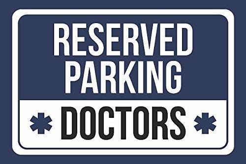 Los médicos de estacionamiento reservado, color azul, blanco ...