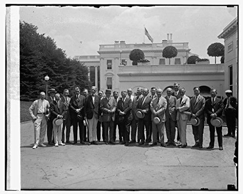 Vintography 16 x 20 Reprinted Old Photo Gen. Frank T. Hines & Council Medical & Hospital Affairs, 7/23/24 1924 National Photo Co 53a by Vintography