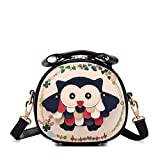 Hipytime AHB880449C3 2016 PU Leather Cute Cartoon Women's Handbag,Round Buns