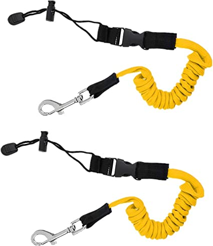 Kayak Paddle Leash Stretchy Cord Rope for Fishing Kayak Diving Watersports