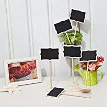 Joinwin? Hot Sale 12 Mini Retangle Chalkboard Blackboard with Stand Wedding Party Table Numbers Place Card Favor Tag Plant Marker by Joinwin