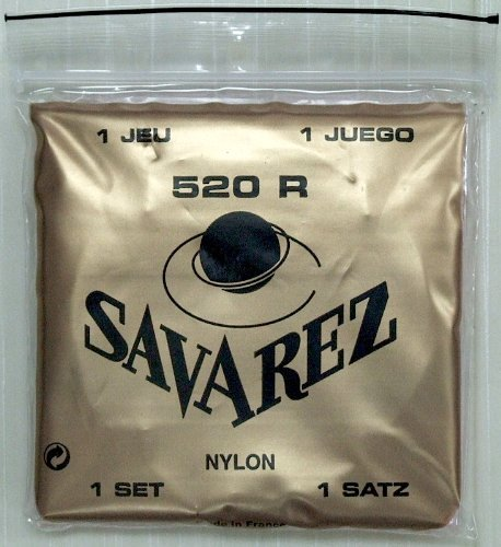 Savarez 520R Traditional Classical Guitar Strings, High Tension, Red Card