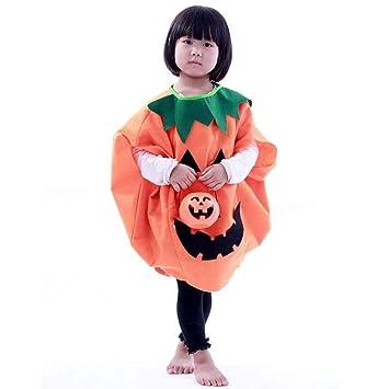 WINOMO Disfraz para niños, diseño de cara de calabaza de Halloween ...
