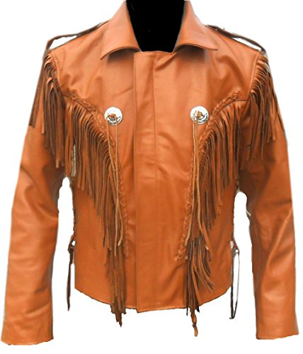Classyak Western Indian Real Leather Cowboy Jacket, All S...