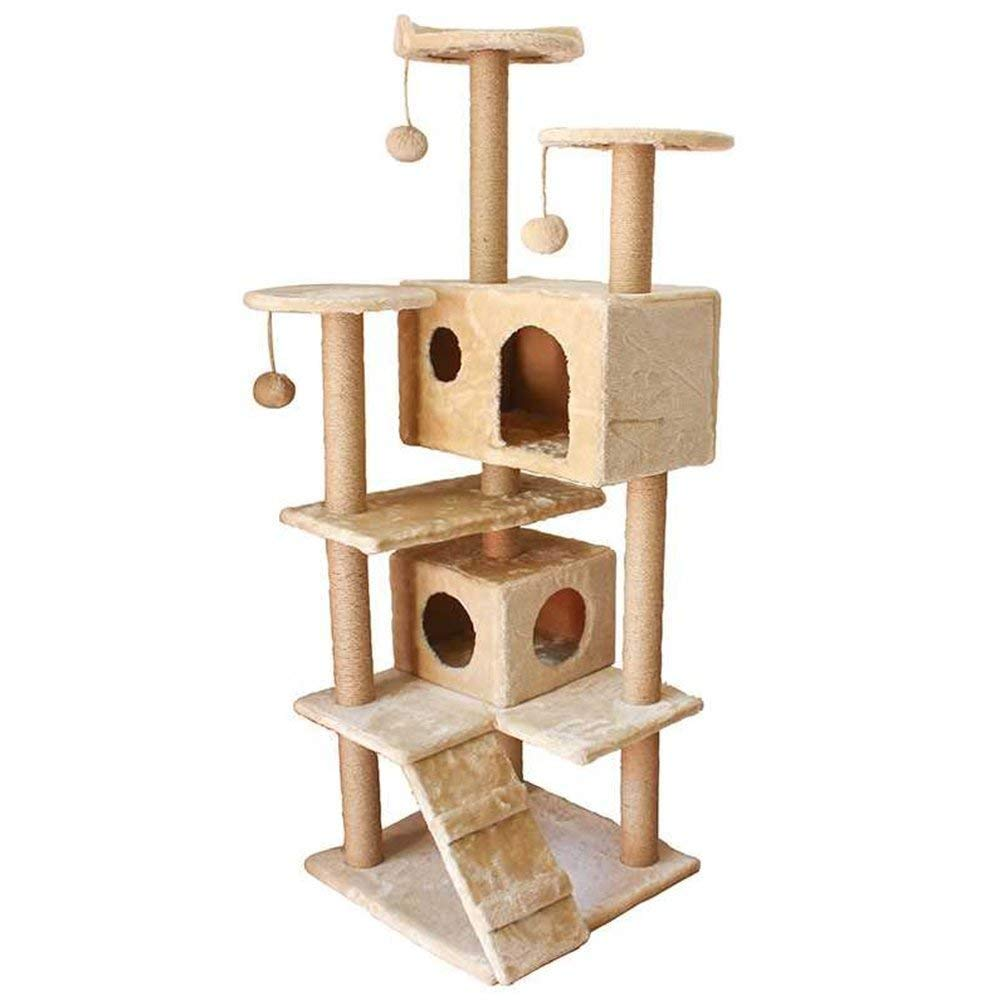 Cat Tree Apartment Furniture Kitty Activity Tower Multi-Platform Cat Cat Tree Play Scratch Pet Toy