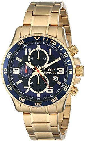 Invicta Men's 14878 Specialty Chronograph Gold Ion-Plated Wa