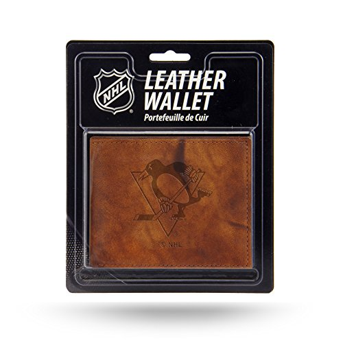 Rico Industries NHL Pittsburgh Penguins Embossed Leather Billfold Wallet with Man Made Interior