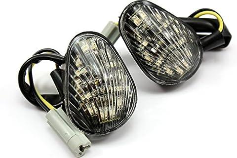 NEVERLAND LED Flush Mount Turn Signal for Yamaha YZF R1 02-08/YZF R6 03-08/YZF R6S 06-08 - Yamaha Yzf R1 Led
