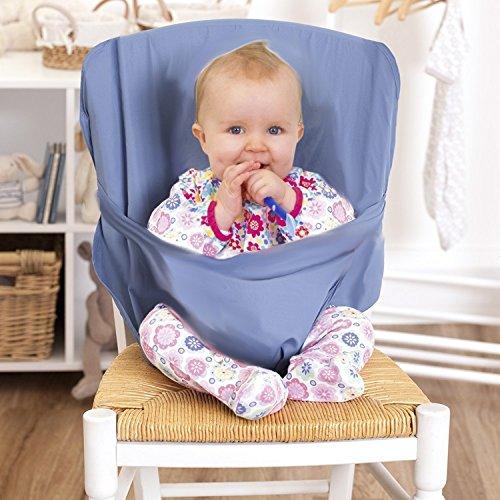 Hochstuhl baby   tragbarer Stuhl-Sitzgurt   Hochstühle für Essen und Feiertagen   Bequeme und nicht zu besetzen Raum   Kindersitz Für Unterwegs   Passt in die Tasche   Eine zufällige Farbe senden
