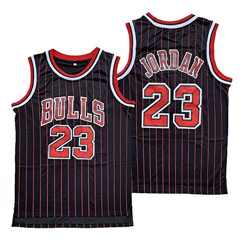Legend 23 Michael Stitched Basketball Jersey Mens Retro Athletics Jersey S-XXXL (Black, Large)