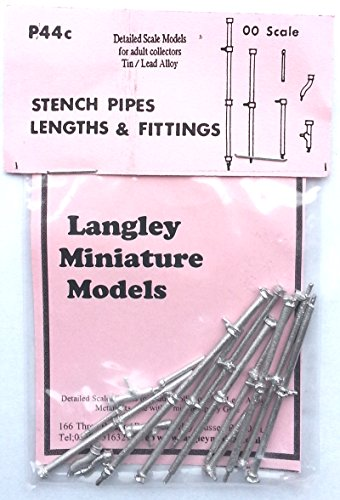 Langley Models Stench pipes, lengths + fittings OO Scale UNPAINTED Part P44c
