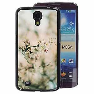 A-type Arte & diseño plástico duro Fundas Cover Cubre Hard Case Cover para Samsung Galaxy Mega 6.3 (Spring Blurry Blooming Flowers Plant Green)