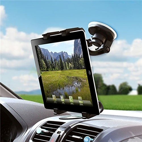 (Car Mount Tablet Holder Windshield Swivel Cradle Compatible with ViewSonic ViewPad E72 (7) E100 9.7 10s (10.1) 10pi (10.1) - Visual Land Prestige 7L 7 10, Connect 9 7)