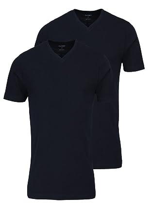 finest selection 2b0f3 27e16 OLYMP Herren T-Shirt Doppelpack V-Ausschnitt