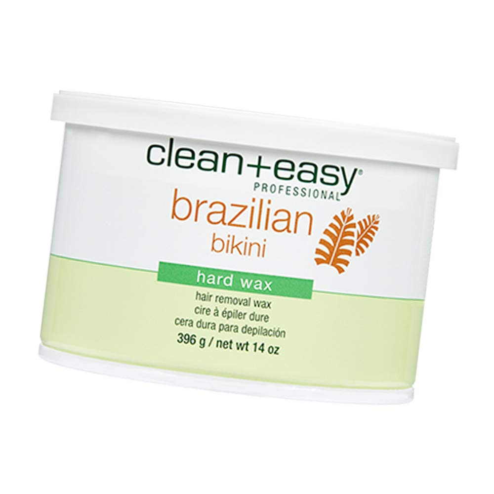 Clean+Easy Brazilian Hard Wax, Full Body Hair Removal For All Skin Types, 14 oz