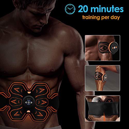 E Modalità Corrente Corpo A Cintura 10 Cinture Muscolare Elettrostimolatore Professionale Con includere Dimagrante Per Livelli 6 Stimolatore Donna Frequenza Massaggianti tion Ems Uomo Addominali Massaggio Z7OqPZ