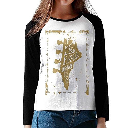 (LOVEGIFTTO LADY Womens Zac Brown Band O-Neck Long Sleeve Raglan Tee Shirt)