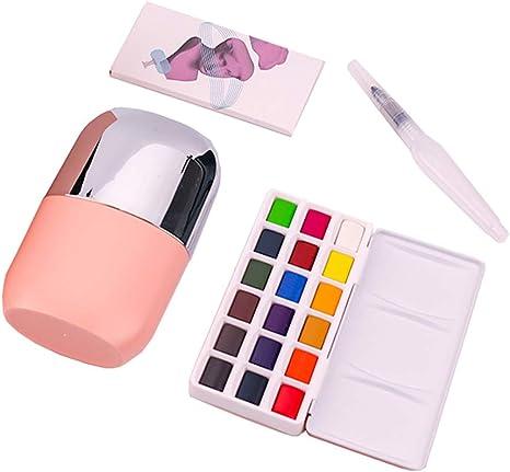 Cepillo de paleta de pintura con Artista Mezcla Pintura Infantil Niños 12 Colores Surtidos