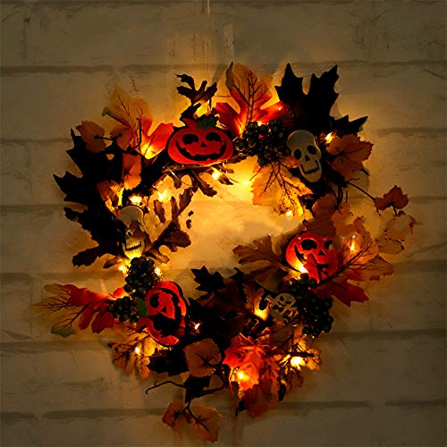 DIY LED Light Fake Pumpkin Maple Leaf Fall