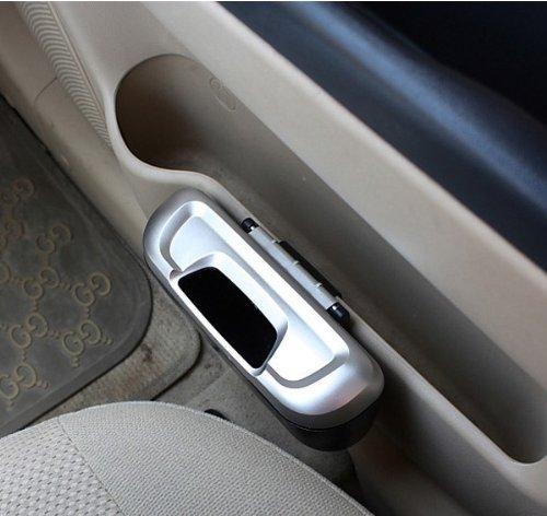 Ketofa Mini Auto Car Vehicle Garbage Dust Case Holder Box Bin Trash Rubbish Can(Silver)