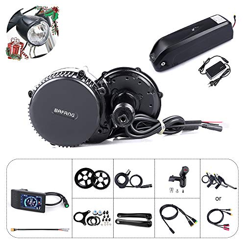 🥇 Bafang Bicicleta eléctrica BBS02B 48V 750W Kit de conversión de Bicicleta de montaña con Motor Central Bicicleta de EBike con batería de 48V 11.6/17.5Ah Hailong/Portaequipajes Batería /52V 14Ah