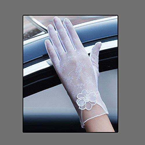 Coio 女性手袋 レディースUVカット レース 薄手日焼け防止 紫外線カット ブライダル手袋(スタイル 6))