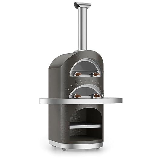 alfa living Horno de Leña para exterior Cocina directa de acero ...